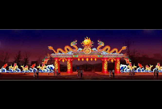 广西北海春节彩灯制作