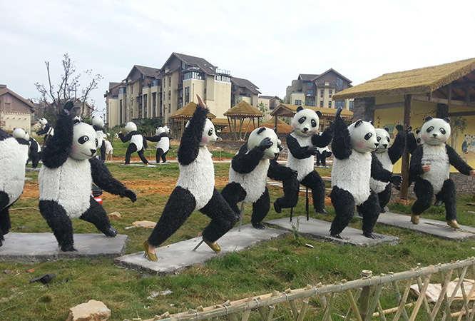 熊猫景观小品场景