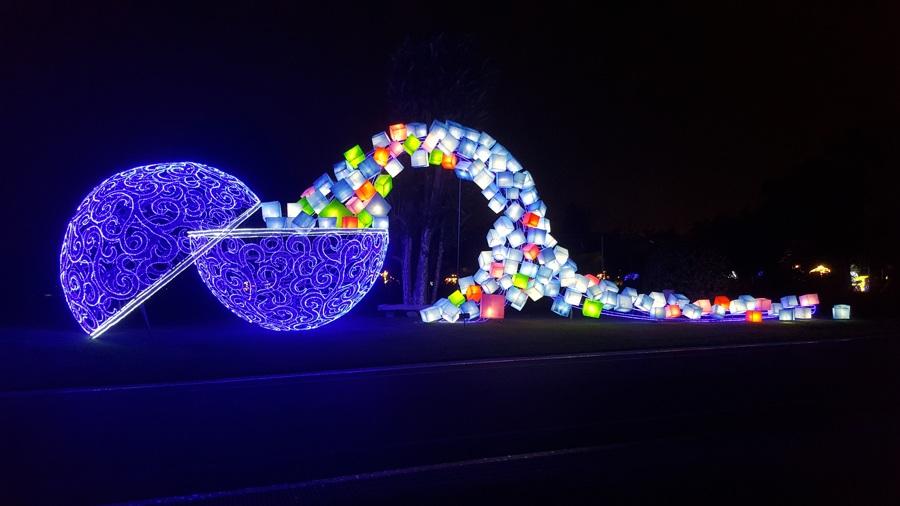 大型光雕彩灯亮灯效果
